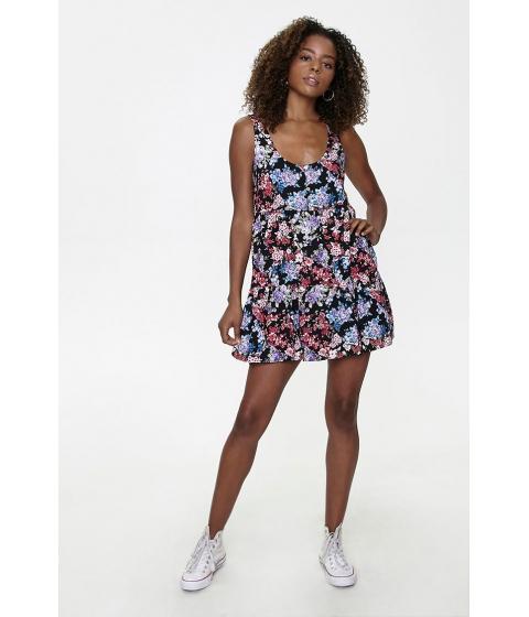 Imbracaminte Femei Forever21 Floral Print Mini Dress BLACKMULTI