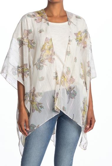 Imbracaminte Femei Vince Camuto Metallic Stripe Floral Kimono NEUTRAL