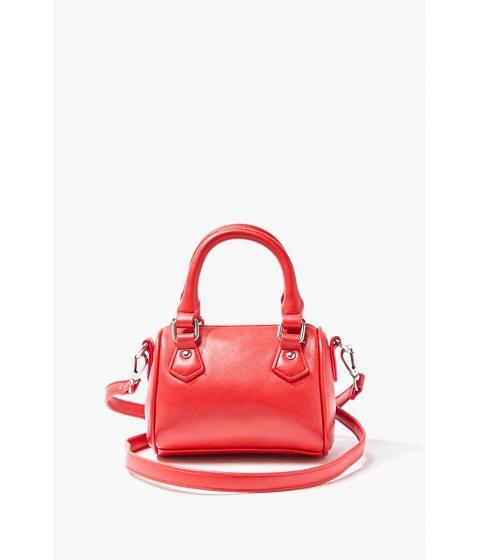 Genti Femei Forever21 Mini Faux Leather Crossbody Bag RED
