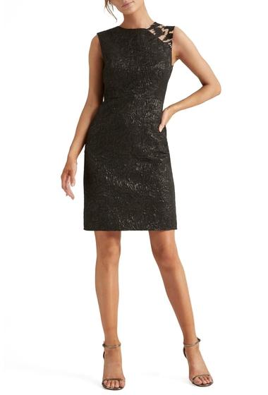 Imbracaminte Femei Halston Heritage Embellished Jacquard Cocktail Dress BLACK