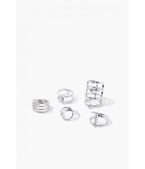 Bijuterii Femei Forever21 Cutout Ring Set SILVER