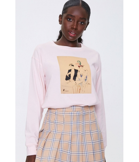 Imbracaminte Femei Forever21 Picasso Graphic Top PINKMULTI