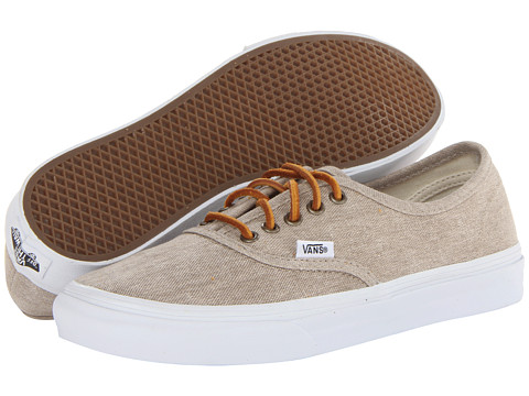 Incaltaminte Femei Vans Authentictrade Slim (Washed Canvas) CreamTrue White