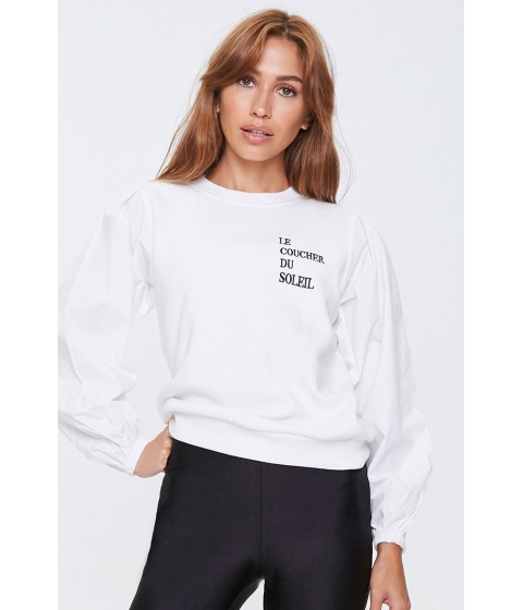 Imbracaminte Femei Forever21 Le Coucher Du Soleil Sweatshirt CREAMBLACK