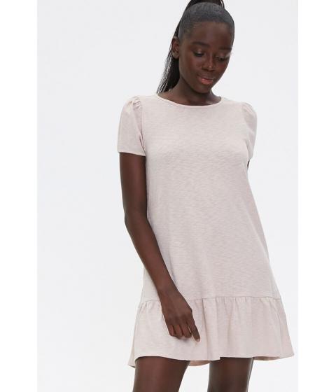 Imbracaminte Femei Forever21 Flounce-Hem Mini Dress TAUPE