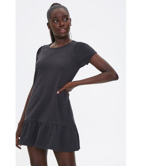 Imbracaminte Femei Forever21 Flounce-Hem Mini Dress CHARCOAL