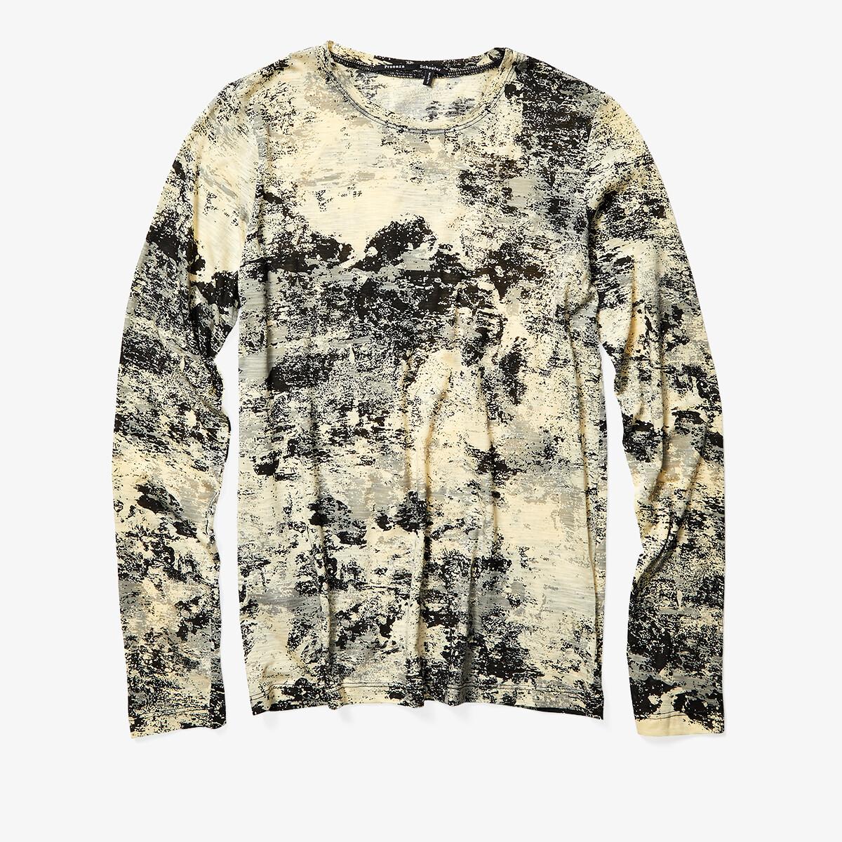 Imbracaminte Femei Proenza Schouler Long Sleeve Printed T-Shirt Pale YellowBlack Foil