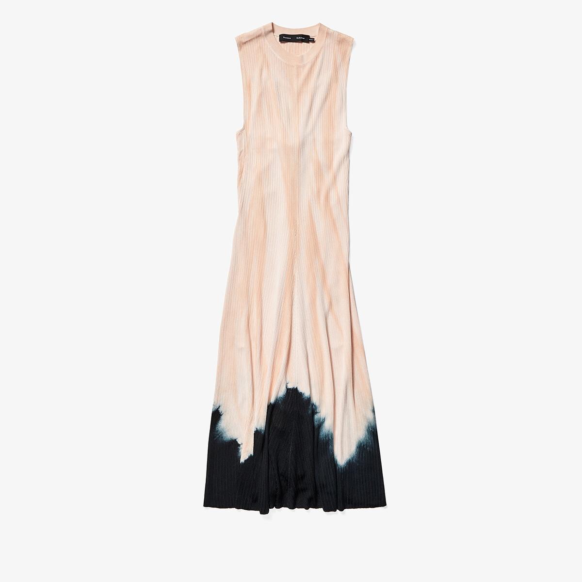 Imbracaminte Femei Proenza Schouler Tie-Dye Sleeveless Knotted Back Dress Dark SalmonBlack