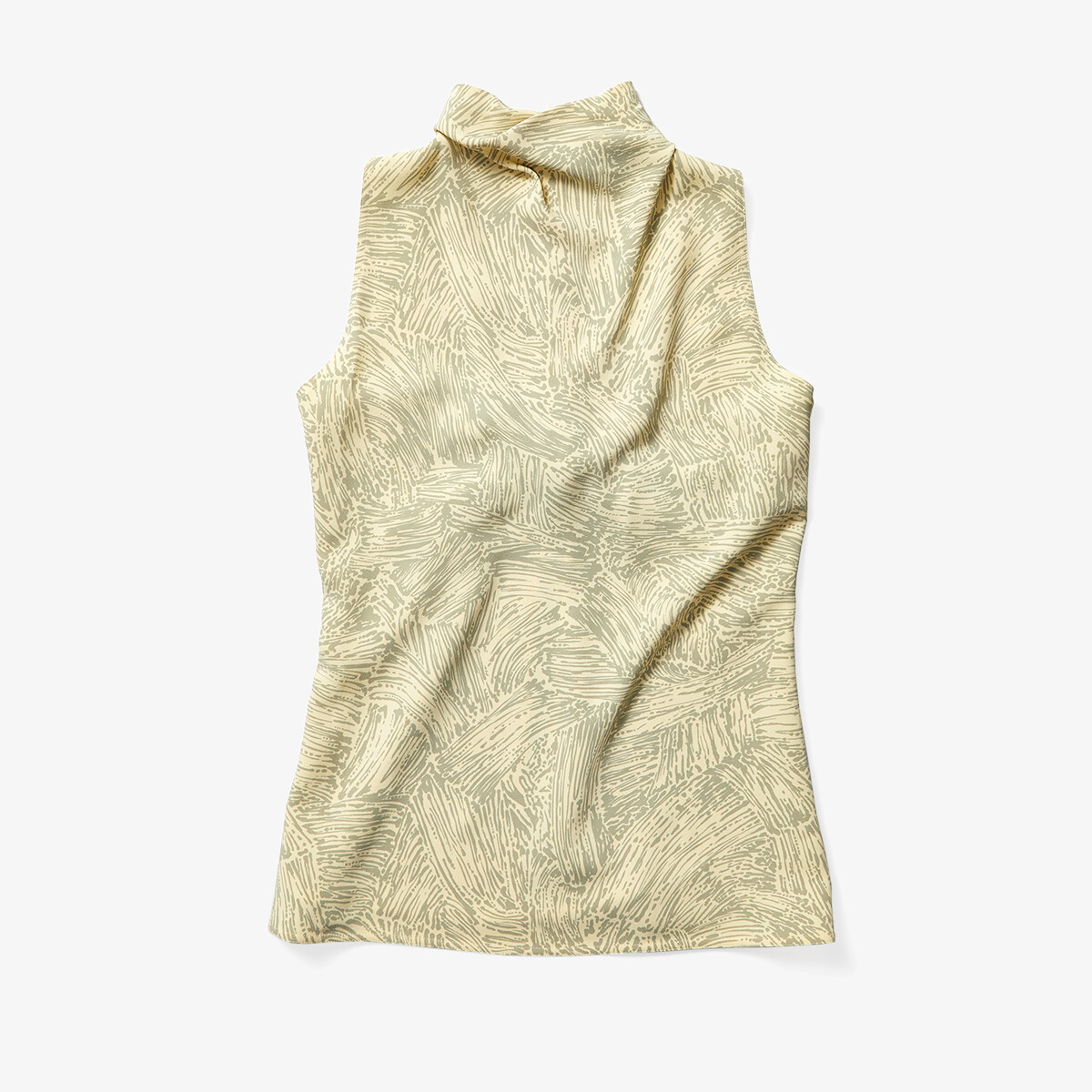Imbracaminte Femei Proenza Schouler Printed Cady Sleeveless Knotted Back Top ButterTaupe