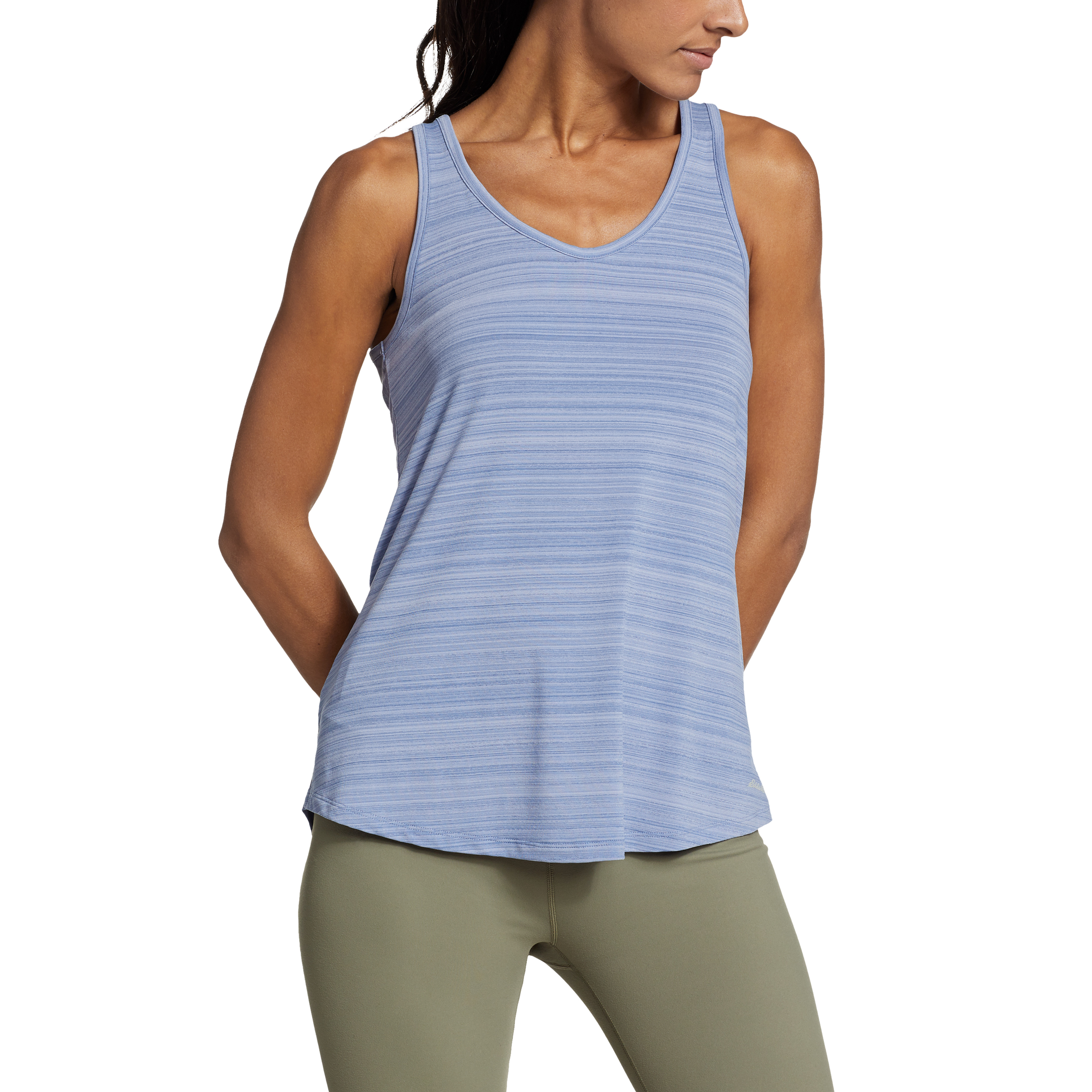 Imbracaminte Femei Eddie Bauer Trail Light Draped Back Tank Metal Blue