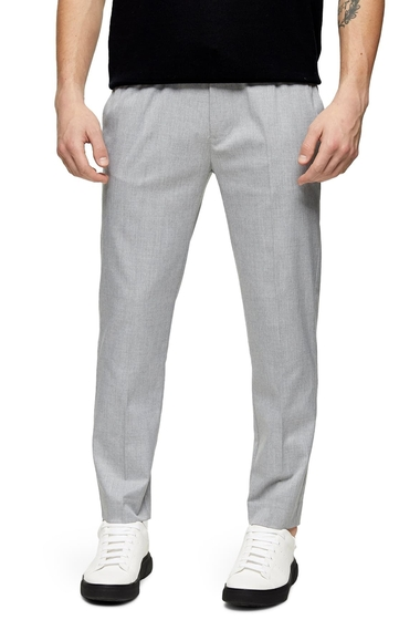 Imbracaminte Barbati TOPMAN Skinny Fit Drawstring Pants GREY