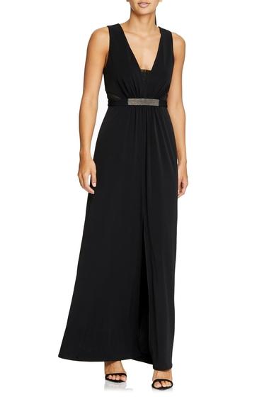 Imbracaminte Femei Halston Heritage Jewel Waist Crepe Gown BLACK