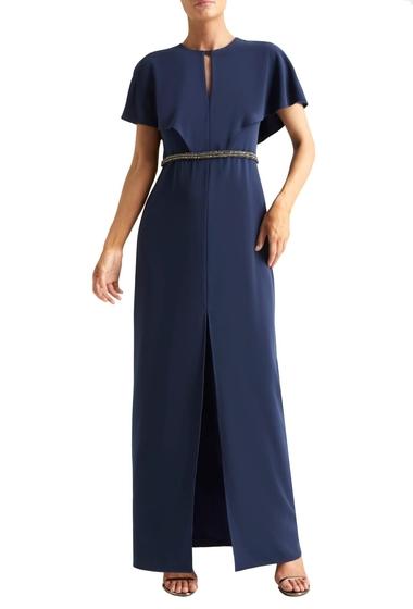 Imbracaminte Femei Halston Heritage Cape Sleeve Gown NAVY