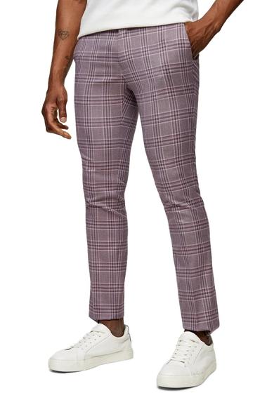 Imbracaminte Barbati TOPMAN Moda Super Skinny Check Pants PURPLE MULTI