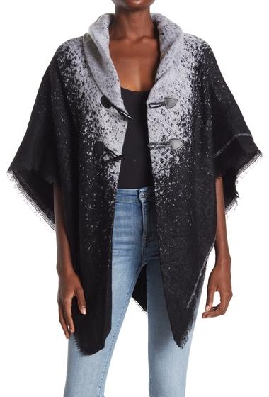 Imbracaminte Femei Modena Woven Ombre Print Cape BLACKWHITE