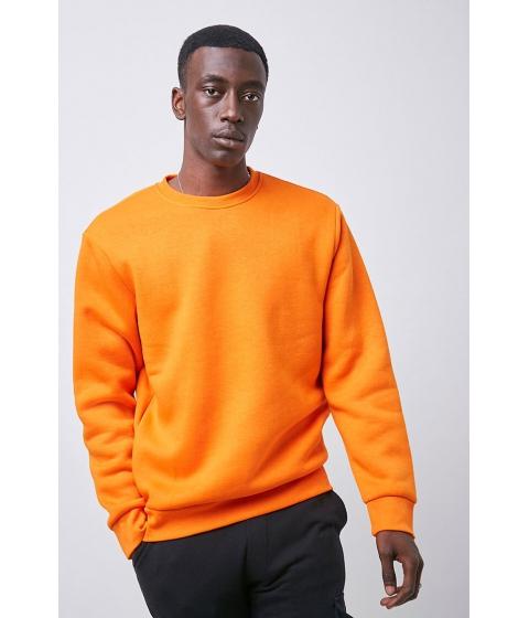 Imbracaminte Barbati Forever21 Crew Neck Fleece Sweatshirt ORANGE