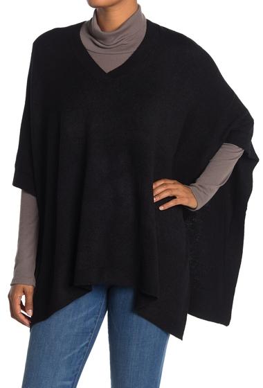 Imbracaminte Femei Modena V-Neck Knit Poncho BLACK