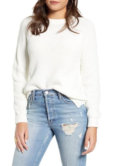 Imbracaminte Femei VERO MODA Shaker Stitch Crewneck Sweater SNOW WHITE