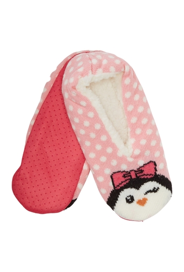 Imbracaminte Femei Betsey Johnson Faux Shearling Lined Slipper Socks PNK