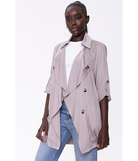 Imbracaminte Femei Forever21 Double-Breasted Duster Jacket SAND
