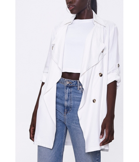 Imbracaminte Femei Forever21 Double-Breasted Duster Jacket IVORY