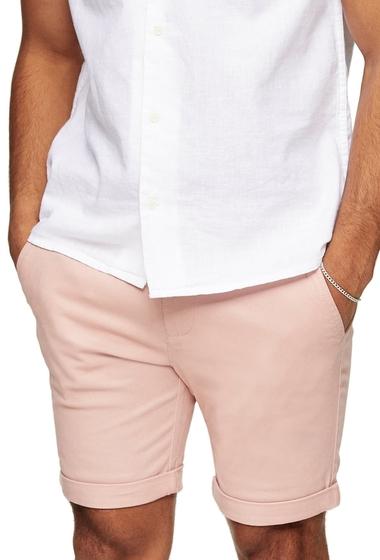 Imbracaminte Barbati TOPMAN Stretch Skinny Chino Shorts LIGHT PINK