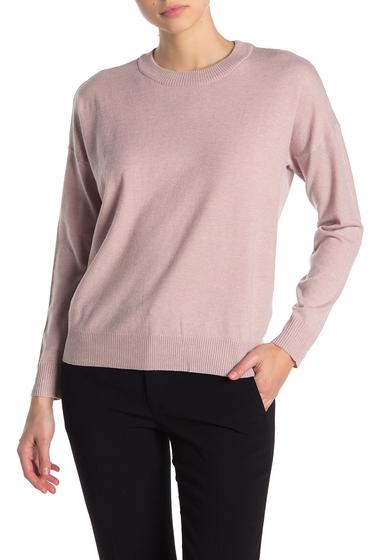 Imbracaminte Femei T Tahari Crew Neck Long Sleeve Pullover Sweater LT BLUSH