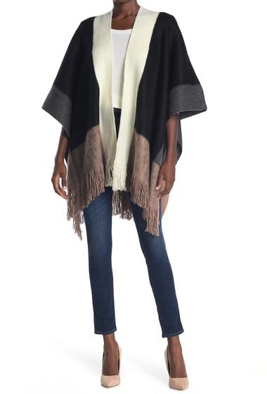 Imbracaminte Femei Vince Camuto Colorblock Fringe Kimono BLACK