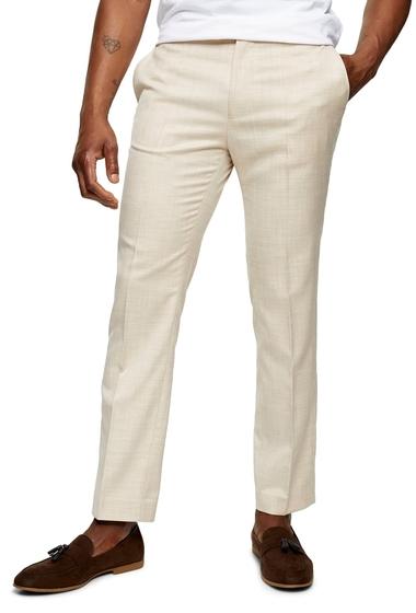 Imbracaminte Barbati TOPMAN Dax Slim Fit Flat Front Ankle Trousers STONE