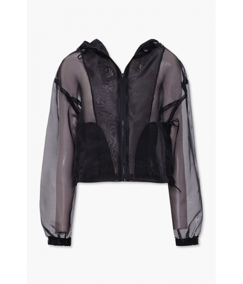 Imbracaminte Femei Forever21 Organza Zip-Up Jacket BLACK