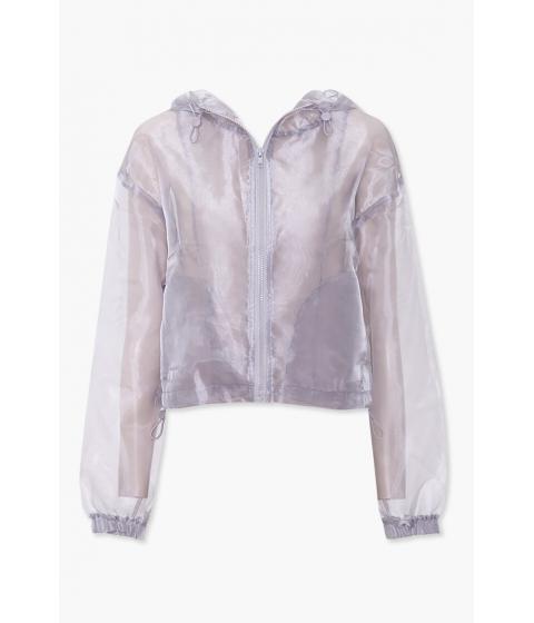 Imbracaminte Femei Forever21 Organza Zip-Up Jacket SILVER