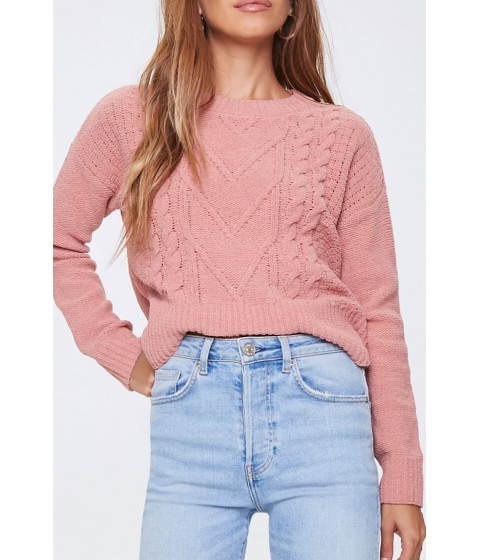 Imbracaminte Femei Forever21 Cable Knit Sweater DUSTY PINK