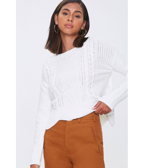 Imbracaminte Femei Forever21 Cable Knit Sweater IVORY