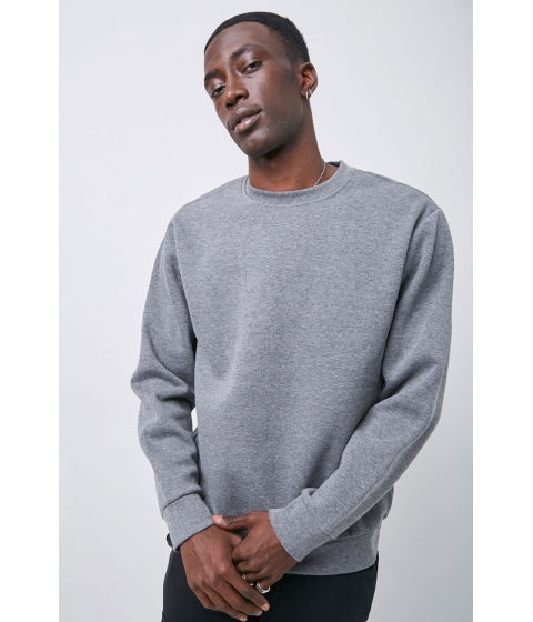 Imbracaminte Barbati Forever21 Crew Neck Fleece Sweatshirt CHARCOAL HEATHER