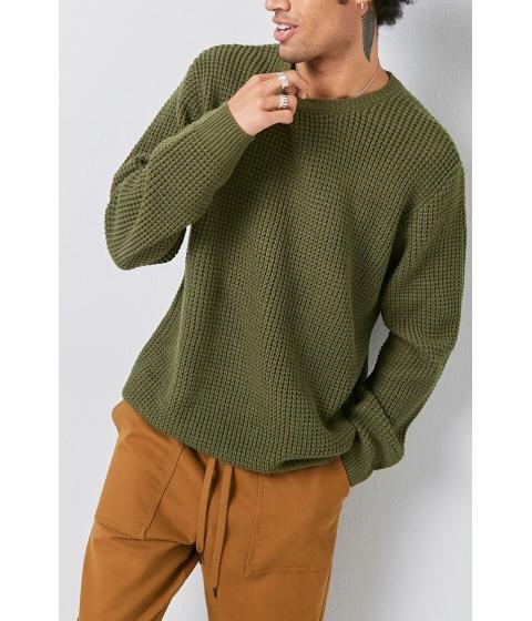 Imbracaminte Barbati Forever21 Textured Sweater GREEN