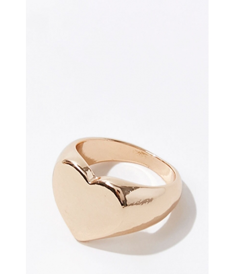 Bijuterii Femei Forever21 High-Polish Heart Ring GOLD