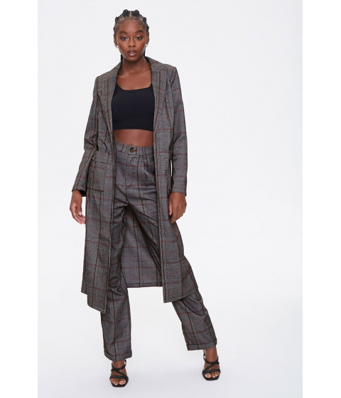 Imbracaminte Femei Forever21 Glen Plaid Duster Jacket CHARCOALMULTI