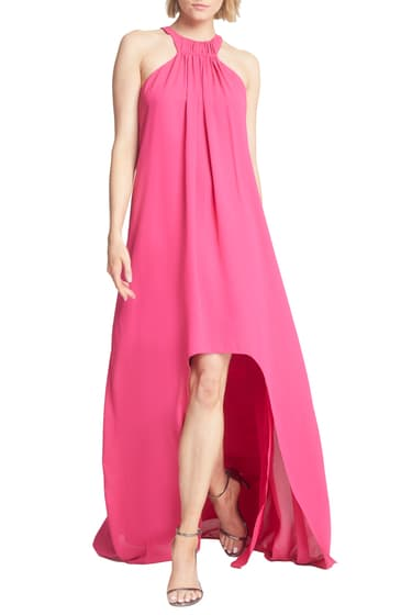 Imbracaminte Femei Halston Heritage HighLow Crepe Trapeze Gown BERRY