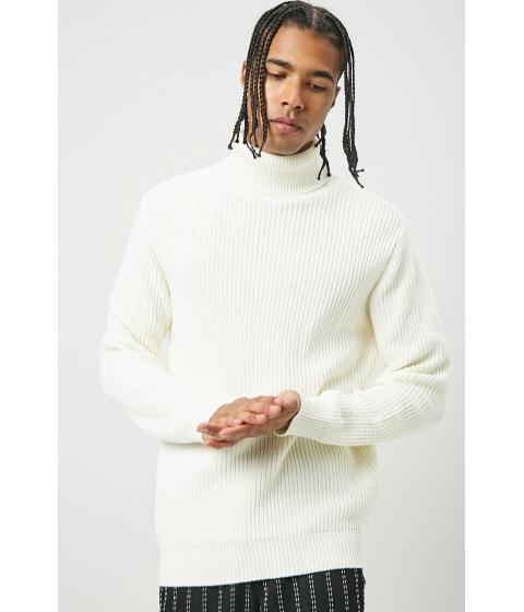 Imbracaminte Barbati Forever21 Ribbed Turtleneck Sweater CREAM