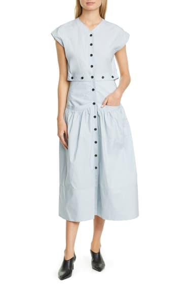 Imbracaminte Femei Proenza Schouler Button Cotton Poplin Dress LIGHT BLUE