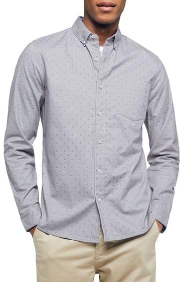 Imbracaminte Barbati TOPMAN Classic Fit Button-Down Oxford Shirt GREY