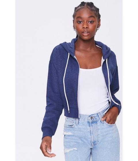 Imbracaminte Femei Forever21 Basic Fleece Zip-Up Hoodie NAVY
