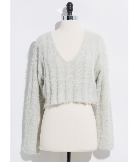 Imbracaminte Femei CheapChic It Sparkles Cropped Fuzzy Knit Sweater Sand