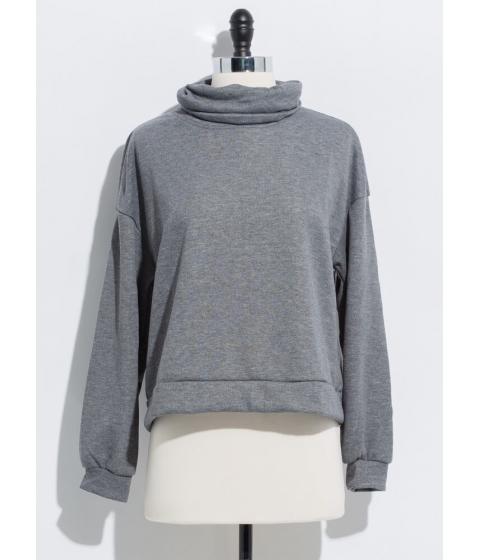 Imbracaminte Femei CheapChic Thank You Necks Turtleneck Sweatshirt Charcoal