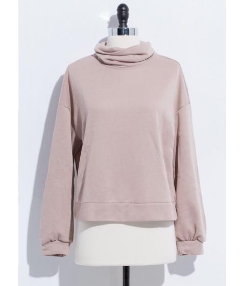 Imbracaminte Femei CheapChic Thank You Necks Turtleneck Sweatshirt Mocha