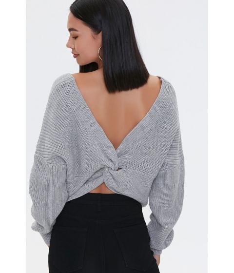 Imbracaminte Femei Forever21 Ribbed Twist-Back Sweater CREAM
