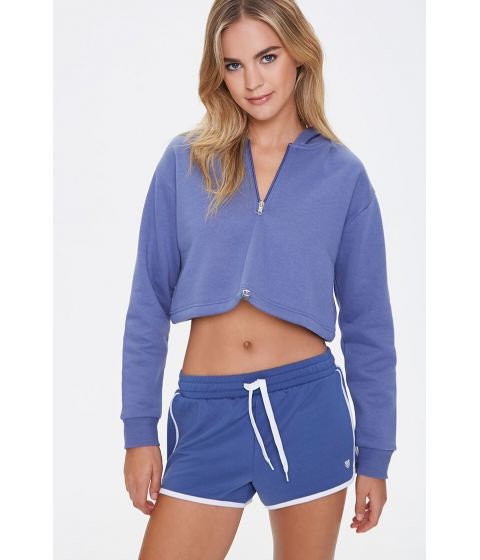 Imbracaminte Femei Forever21 Active Stripe Ringer Shorts DUSTY BLUE