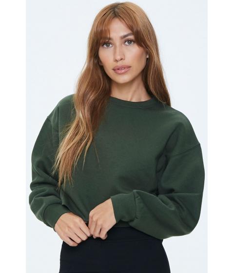 Imbracaminte Femei Forever21 Fleece Drop-Sleeve Sweatshirt OLIVE