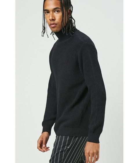 Imbracaminte Barbati Forever21 Ribbed Turtleneck Sweater BLACK