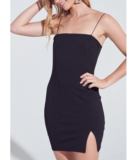 Imbracaminte Femei CheapChic It Sleeks Up On You Slit Minidress Black